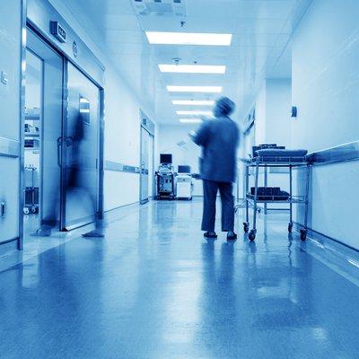 Image of blurred hospital