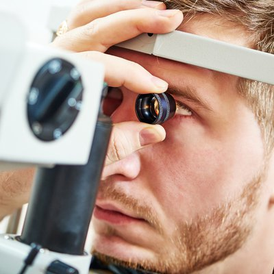 Image of patient receiving an eye examination