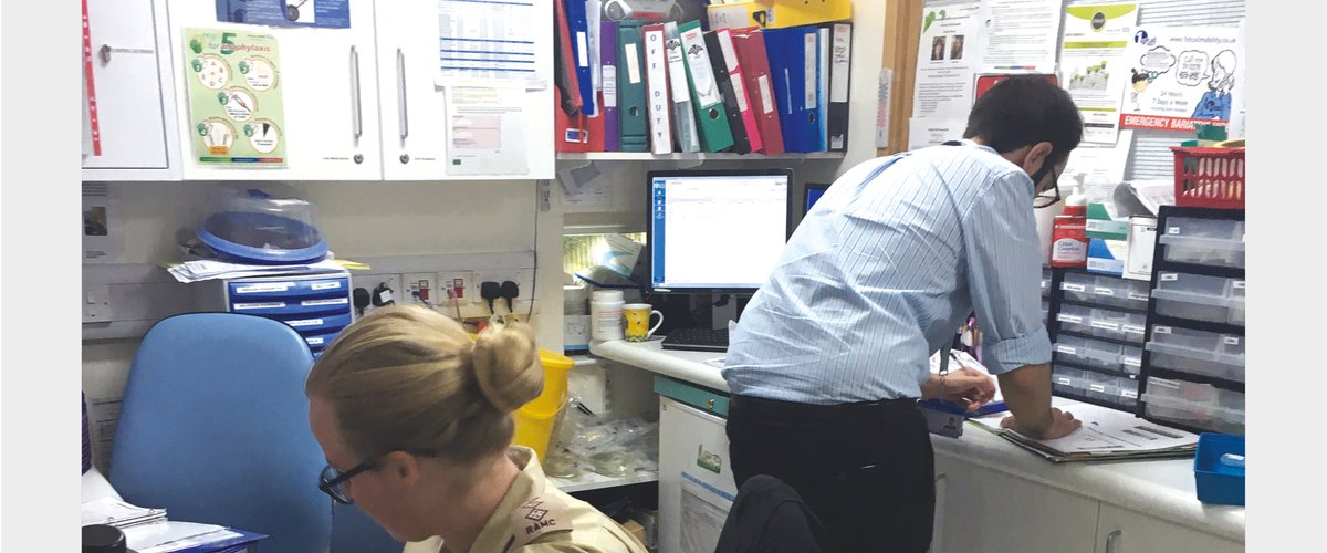 Fig 15 Example of workspace for prescribing medication and used for other administrative tasks