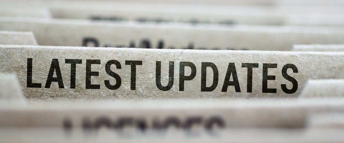 An image showing the words 'latest updates'